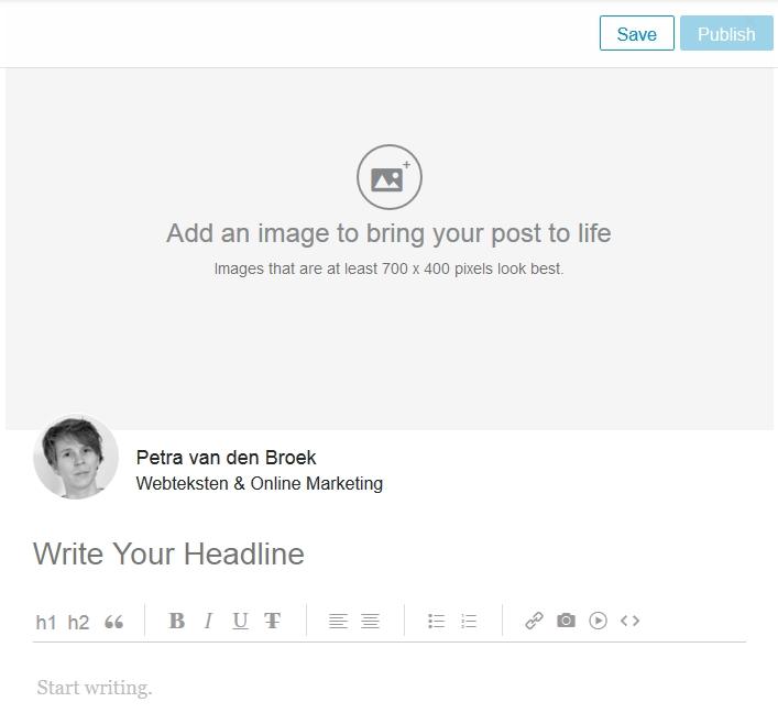 LinkedIn Pulse blog plaatsen
